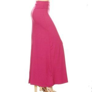 🥳 3/$15 Fuchsia Leggings Depot Maxi Skirt